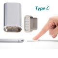 Магнитен микро USB адаптер с накрайник за зареждане Type C-Адаптети