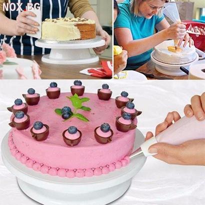 Въртяща стойка за торта поставка за декорация на сладкиши | Храни, Напитки | Добрич