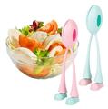 Комплект лъжици за салата крачета прибор за сервиране-Дом и Градина