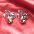 Дамски обеци с цветен камък обици с винтчета-Обеци