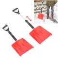 Лопата за сняг за кола с телескопична дръжка червена 69/86см-Части и Аксесоари