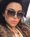 Ново! Намаление!Слънчеви очила Селин в кафяво, ув защита 400-Дамски Слънчеви Очила