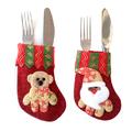 Коледна декорация за прибори облекло калъф за вилица лъжица-Дом и Градина
