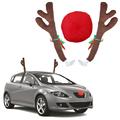 Коледни еленски рога за автомобил Коледна украса за кола Еле-Части и Аксесоари