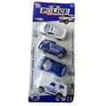 Полицейски колички детски играчки за момче комплект от 4 броя-Детски Играчки
