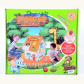 Детска сглобяема картонена къща за оцветяване-Детски Играчки