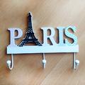 Декоративна закачалка за стена Paris с три куки за закачане-Дом и Градина