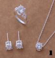Ново! Сребърни комплекти с камъни цирконий-Комплекти