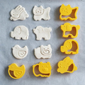 Форми за сладки с релеф животни резци за тесто формички-Дом и Градина
