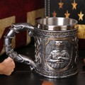 Метална 3D чаша Рицар подарък за мъж нестандартна чаша за би-Дом и Градина