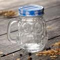 Малко стъклено бурканче за мед или подправки Бухалче 100мл-Дом и Градина