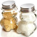 Малко стъклено бурканче за мед или подправки Мече 80ml-Дом и Градина