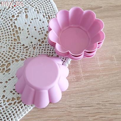 Силиконови форми за мъфини Цветенца 6бр формички за мини кекс | Дом и Градина | Добрич