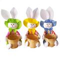 Декоративен панер великденски заек кошничка за яйца и лакомс-Дом и Градина
