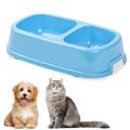 Пластмасова двойна купа за кучета и котки хранилка за домашн-Аксесоари