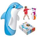 Детска надуваема боксова круша с основа Тигър и Делфин 98x44-Детски Играчки