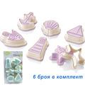 Форми за сладки Морски фигури резци за тесто с щампа релеф р-Дом и Градина