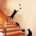 Стикери за стена котки с пеперуди стикер за декорация украса-Дом и Градина
