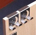 Метална закачалка за кухненски шкаф с 2 куки за закачане Усм-Други