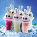 Комплект от 6 броя форми за сладолед Зайчета формички за лед-Дом и Градина