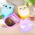 Детска кутия за обяд с две отделения и лъжичка Бухалче 700ml-Дом и Градина