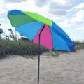 Голям плажен чадър с пречупване 200см диаметър регулираща в-Играчки и Хоби