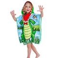 Детско плажно пончо Крокодил детски плажен халат хавлия понч-Детски Дрехи