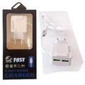 Зарядно за бързо зареждане с 2 USB порта, Микро usb, FAST HO-Други