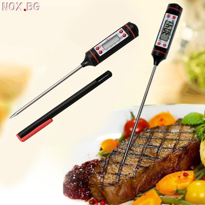 Дигитален кухненски термометър за месо барбекю храни течнос | Храни, Напитки | Добрич