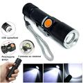 Мини LED фенер с USB зареждане мощен джобен фенер ZOOM фоку-Други