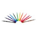 Лесно измиващи се цветни флумастери 12 цвята в комплект Лес-Аксесоари
