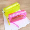 Прозрачен ученически несесер за моливи неонови цветове-Други