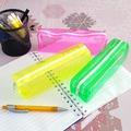 Прозрачен ученически несесер за моливи неонови цветове малък-Други
