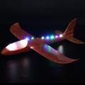 Светещ самолет от стиропор въздушен самолет за хвърляне план-Детски Играчки