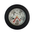 Стенен часовник автомобилна гума безшумен механизъм-Дом и Градина