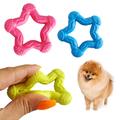 Гумена играчка за куче звезда играчка за дъвчене-Аксесоари
