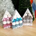 Комплект коледни топки за украса на елха Къщичка 12 части-Изкуство