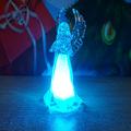 Коледна светеща фигурка Ангел с крила 11см коледна играчка з-Изкуство