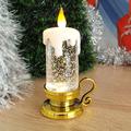 Коледна електронна свещ с дръжка светеща коледна украса 15см-Изкуство