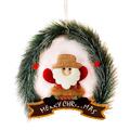 Коледен венец с надпис Merry Christmas и коледна фигура 24cm-Изкуство