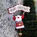 Коледна висяща фигура с табелка Merry Christmas и звънче-Изкуство