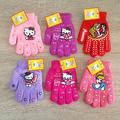 Детски зимни ръкавици за момиче машинно плетиво 3-4 години-Други