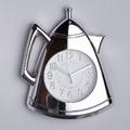 Модерен кухненски часовник Чайник сребрист-Дом и Градина