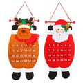 Текстилен коледен календар с джобчета Дядо Коледа или Еленче-Дом и Градина