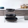 Метална стойка за тигани и тави органайзер за кухненски шкаф-Дом и Градина