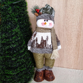 Текстилна фигура за коледна украса Снежко 44cm височина-Изкуство