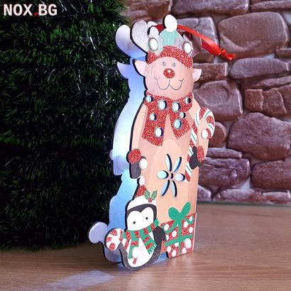 Светеща коледна фигура еленче от картон 19 см | Изкуство | Добрич