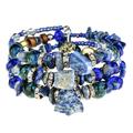 Ново! Гривна с естествени камъни - Lapis Lazuli-Гривни
