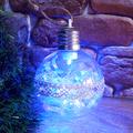 Светеща коледна топка с pvc дантела за украса на елха 8см ди-Изкуство