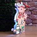Светеща коледна фигура еленче от картон 19 см-Изкуство